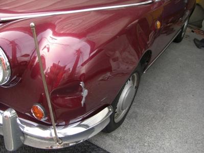 光岡自動車「ビュート」の修理事例。