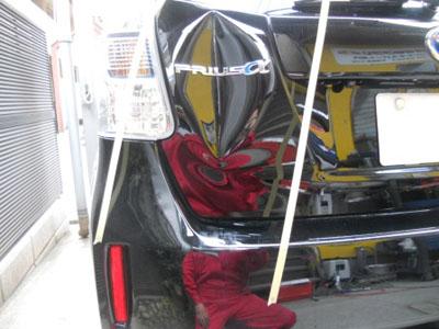 保険修理、バックパネルは交換すると事故車になってしまうので注意!