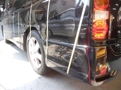 板金塗装こんな大きな凹みでも修理で大丈夫です!!