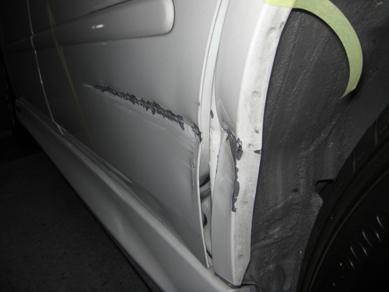 ホンダ・オデッセイの保険修理。