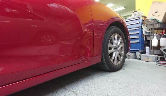 アテンザ「46V」レッドの板金塗装